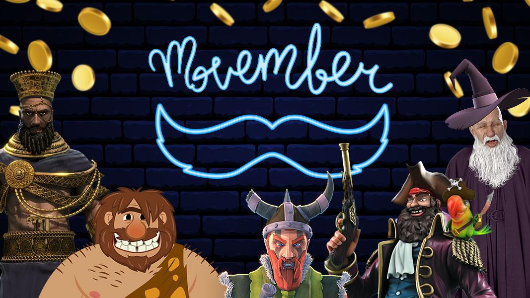 Movember at Grand Rush Casino